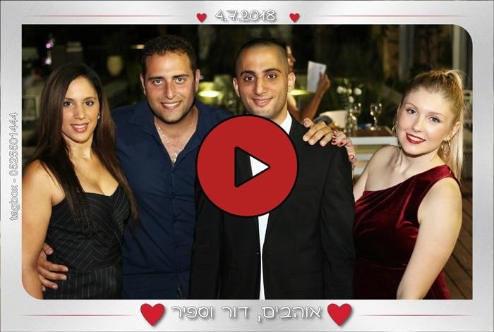 הקלטת סרטוני ברכה באירועים עם עמדת הצילום של טאגבוקס חברה