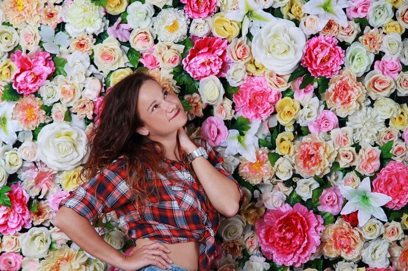 עמדת צילום לחנות פרחים